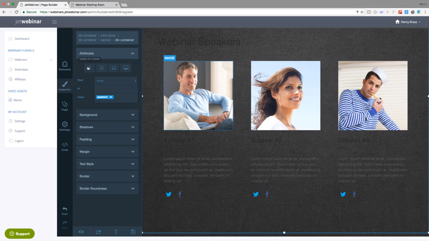 Jet Webinar Drag and Drop Editor - Your Webinar Experts